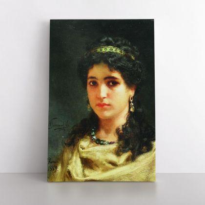 Henryk Hector Siemiradzki Portrait Painting of a Roman Woman Photo Print on Canvas