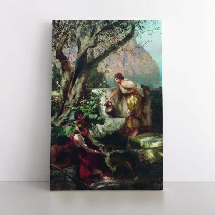 Henryk Hector Siemiradzki: Polish Painter Photo Print on Canvas