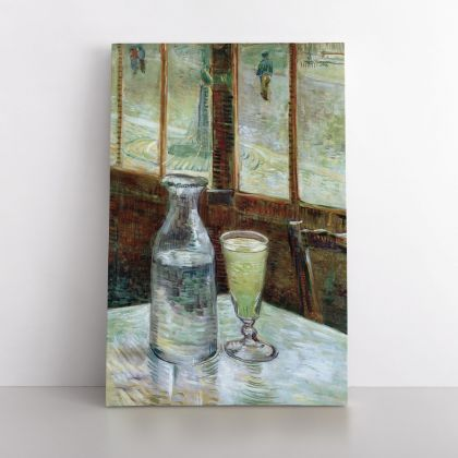 Vincent Van Gogh Painting Glass of Absinthe and a Carafe Abstract Painting Photo Print on Canvas Wall Mural