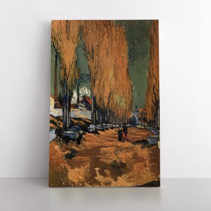 Vincent Van Gogh Painting The Alyscamps Abstract Painting Photo Print on Canvas with Frame Wall Mural
