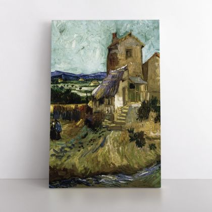 Vincent Van Gogh Original Painting The Old Mill Abstract Painting Photo Print on Canvas with Frame or Rolled Canvas Wall Mural