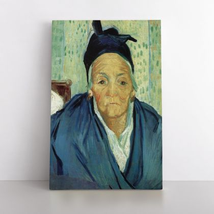 Vincent Van Gogh Painting An Old Women of Arles Abstract Painting Photo Print on Canvas with Frame Wall Mural