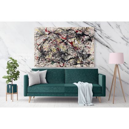 Jackson Pollock Abstract Expressionism Painting Photo Print on Canvas Home Decor Wall Posters Mural Gift