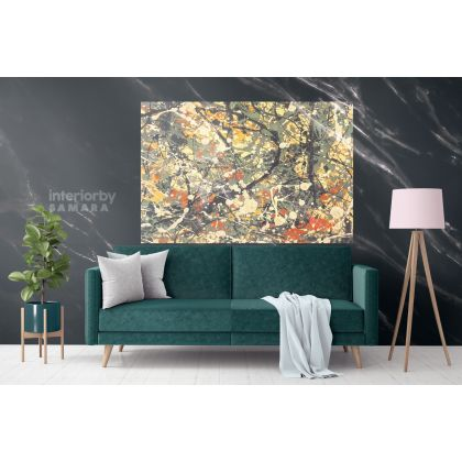 Famous Jackson Pollock Abstract Painting Photo Print on Canvas Home Decor Wall Mural Hangings