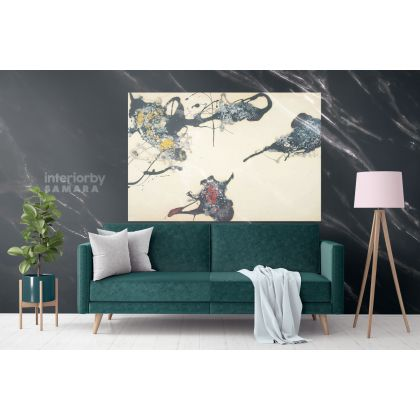 Jackson Pollock Abstract Expressionism Painting Photo Print on Canvas Home Decor Bedroom Wall Mural Hangings