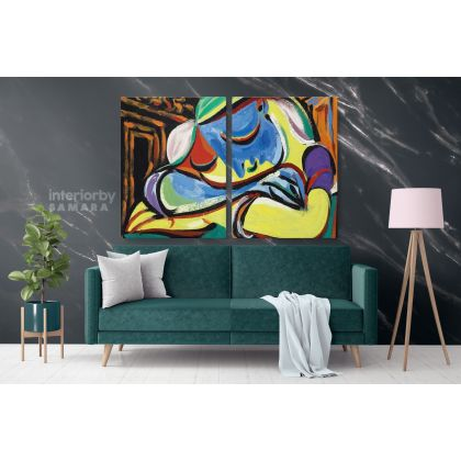 Pablo Picasso Jeune Fille Endormie Famous Artistic Modernism Painting Photo Print on Canvas Home Decor Wall Mural