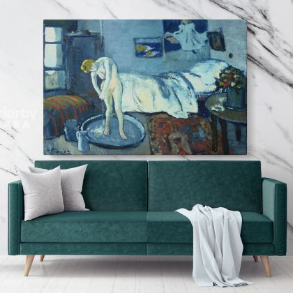 Pablo Picasso: The Blue Room Painting Artistic Modernism Painting Canvas Photo Print Home Decor Wall Posters
