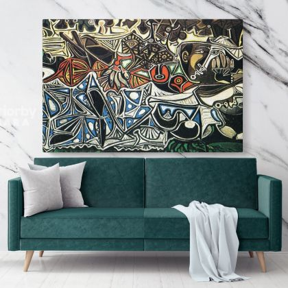 Pablo Picasso Famous Painting Artistic Modernism Painting Photo Print on Canvas Living Room Decor Wall Posters