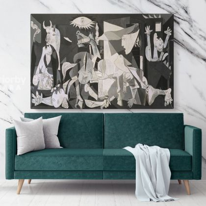 Guernica Painting by Pablo Picasso Artistic Modernism Painting Photo Print on Canvas Home Decor Wall Posters