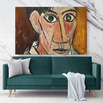 Autorretrato 1907 Painting by Pablo Picasso Artistic Modernism Painting Canvas Photo Print Home Decor Wall Mural