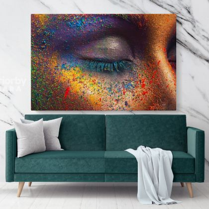 Abstract Art Photo Print on Canvas with Frame Girl Eye Artworks Wall Mural Hangings Home Decor