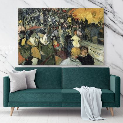 Spectators In The Arena At Arles Painting by Vincent Van Gogh Dutch Painter Original Painting Photo Print on Canvas Wall Art