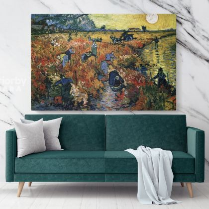 The Red Vineyard Painting by Vincent Van Gogh Dutch Painter Original Painting Canvas Photo Print Wall Art Home Decor