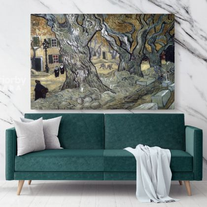 The Road Menders Painting by Vincent Van Gogh Dutch Painter Original Painting Canvas Photo Print Wall Artwork