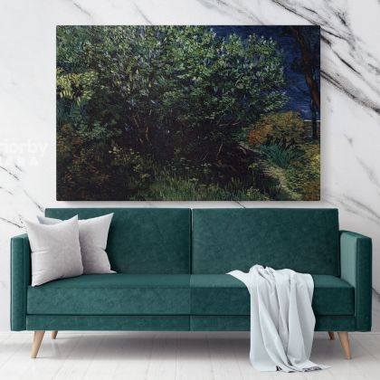 Lilace Painting by Vincent Van Gogh Dutch Painter Original Painting Photo Print on Canvas Wall Mural Artwork