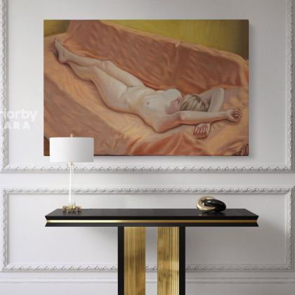 Women's Erotica Artworks by Owen Claxton Photo Print on Canvas Naked Girl Fine Artist Painter Home Decor Wall Mural