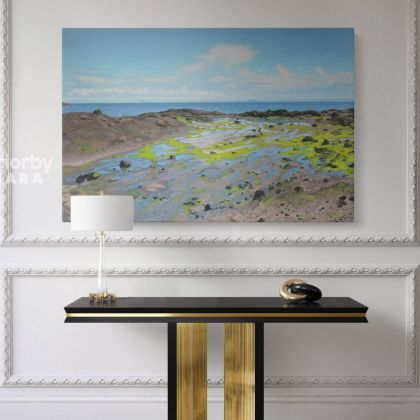 Artworks by Owen Claxton Photo Print on Canvas Mudflat Fine Artist Painter Home Decor Wall Mural Gift
