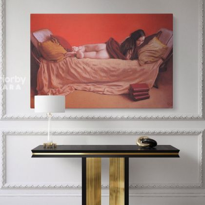 Artworks by Owen Claxton Photo Print on Canvas Nude Girl Fine Artist Painter Home Decoration Wall Mural Gift