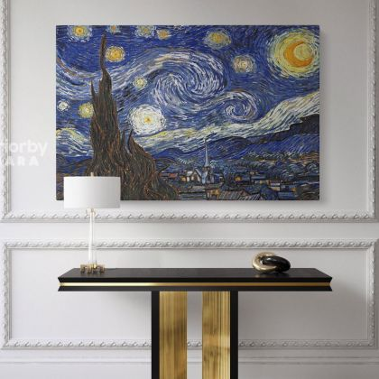Vincent Van Gogh Original Famous Painting Starry Night Photo Print on Canvas Posters Home Decor Wall Mural