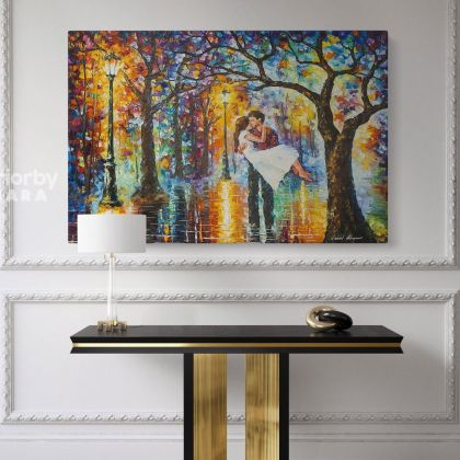 Leonid Afremov Original Oil Painting Canvas Photo Print Spring Emotions Famous Portraits Posters Home Decor Wall Mural