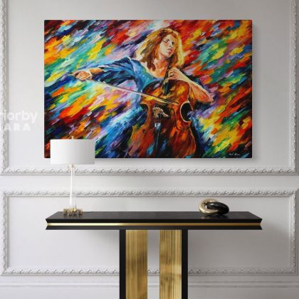 Famous Oil Painting Blue Rhapsody by Leonid Afremov Canvas Photo Print with Frame Home Decor Wall Posters Mural