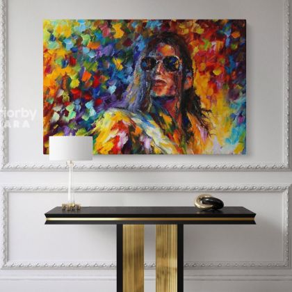 Michael Jackson Oil Painting by Leonid Afremov Canvas Photo Print with Frame Home Decoration Wall Posters Mural Gift