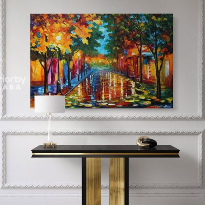 Famous Oil Painting by Leonid Afremov Photo Print on Canvas with Frame Home Decoration Wall Posters Gift