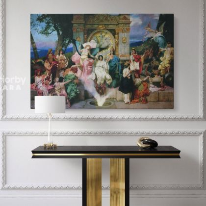 Henryk Hector Siemiradzki Artist: Witch of Endor Painting Photo on Canvas