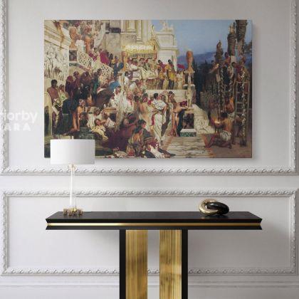 Nero's Torches Painting by Henryk Hector Siemiradzki Giclee Print on Canvas