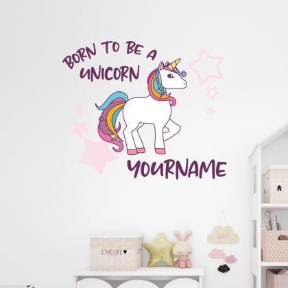 Custom Name Unicorn Wall Decal Stickers Fantasy Girls Bedroom Wall Art Cute Nursery