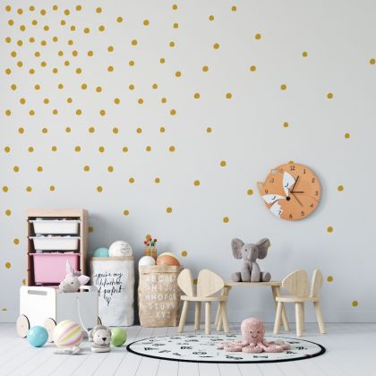 Set of Hand Drawn Dots Wall Decals - Peel and Stick Confetti Wall Stickers