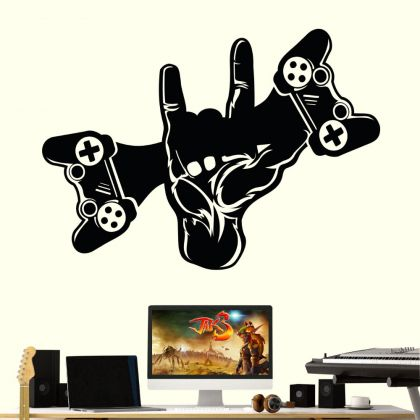 Gaming Wall Decal Sticker Swag Controller Gamer Room Vinyl Wall Decals