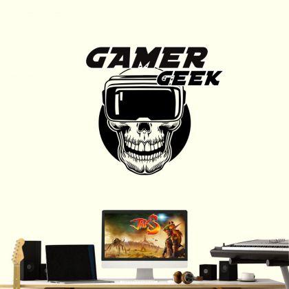 Video Game Gamer Geek Play Kids Room Wall Sticker Vinyl Wall Decal