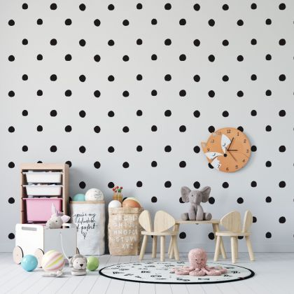Set of Hand Drawn Dots 4cm Wall Decals - Peel and Stick Confetti Wall Stickers