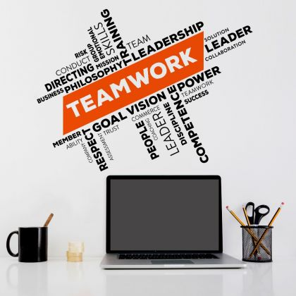 Teamwork workplace Inspirational Quote Office Wall Art | Motivational Quote Wall Decals