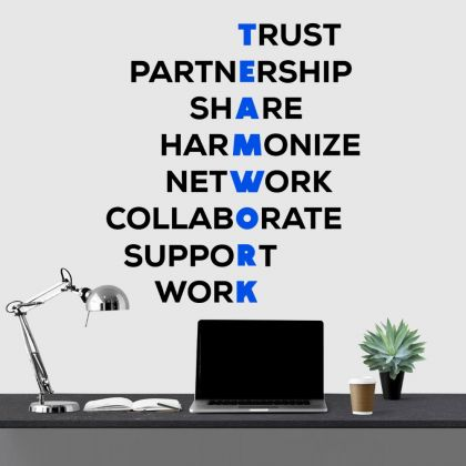 Teamwork Inspirational Quote Office Wall Art | Motivational workplace Quote Wall Decals