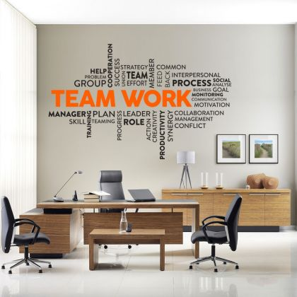 Teamwork Inspirational Quote Office Wall Sticker | Motivational workplace Quote Wall Decals