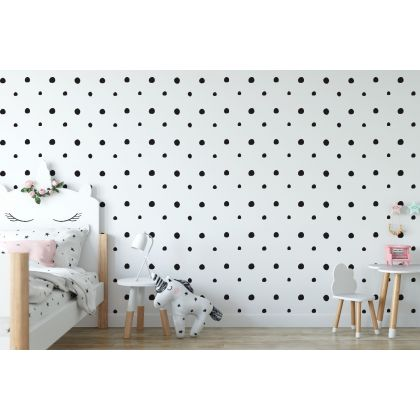 Set of Hand Drawn Dots 2 - 4cm Wall Decals - Peel and Stick Confetti Wall Stickers