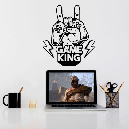 Game King wall decals Gamer Teen Room Vinyl Wall Decal