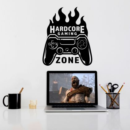 Hardcore Gaming Mode Wall Decal Sticker Gamer Room Vinyl Wall Decals
