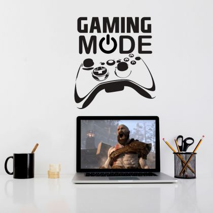 Gaming Mode Wall Decal Sticker Gamer Room Vinyl Wall Decals