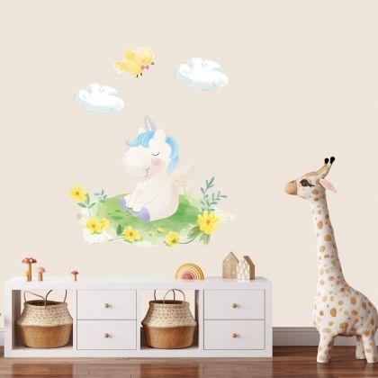 Watercolour Unicorn Wall Sticker Wall Decal Stickers Fantasy Girls Bedroom Wall Art Cute Nursery