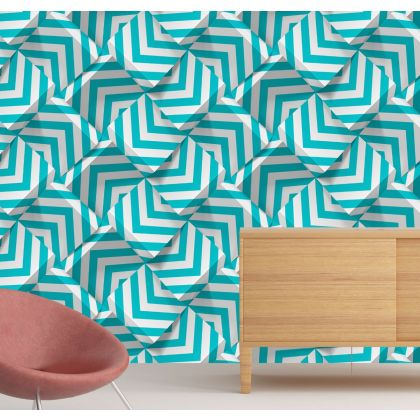 3D Abstract Lines Removable Peel and Stick Wallpaper