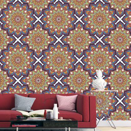Multicolour Vintage Style Mandela Pattern Removable Wallpaper