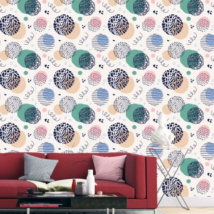 Abstract Pattern Removable Peel and Stick Wallpaper