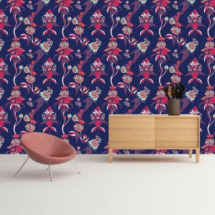 Vintage Floral Removable Wallpaper, Vintage Wall Mural