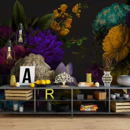 Floral Design Wallpaper Floral Design Removable Wallpaper Self Adhesive Peel and Stick For Wall Decor