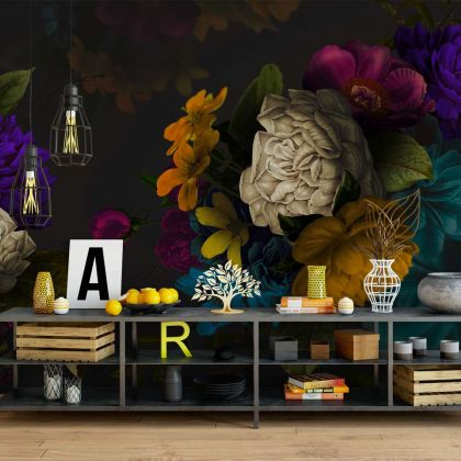 Floral Design Wallpaper Floral Design Removable Wallpaper Self Adhesive Peel and Stick For Wall Decoration
