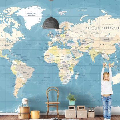 Map Wallpaper World Map Design Wall Mural