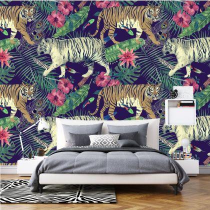 Animal Safari Wallpaper Tropical Jungle Peel and Stick Wallpaper